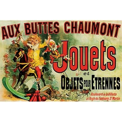 Jouets (as Seen On Friends) - Poster New Aux Buttes Chaumont Vintage Advertising