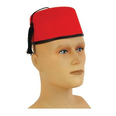 dffcb979 Turkish Moroccan Fez Felt Hat - Fancy Dress Red Accessory Adult Tommy Cooper