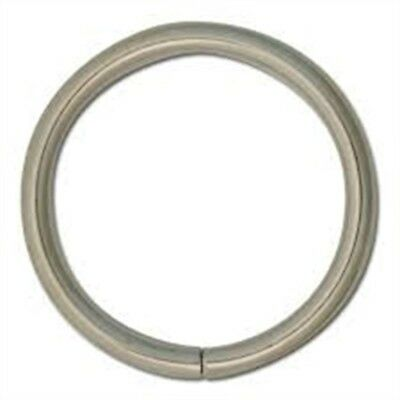 """1"""" Pack Of 10 Nickel Rings - Economy Leathercraft Design Decorative Accent"""