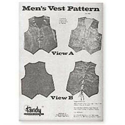 Mens Leather Vest Pattern Pack - Men's Garment Design Guide Leathercraft Tandy