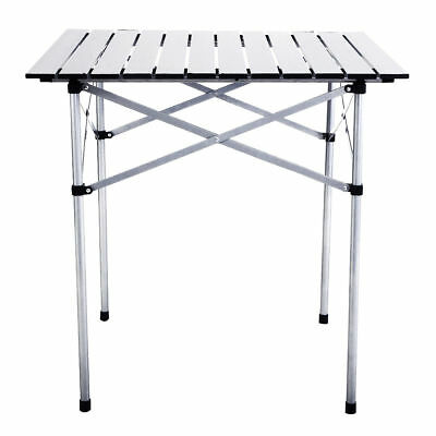 Outdoor Portable Roll Up Folding Camping Square Aluminum Picnic Party BBQ Table