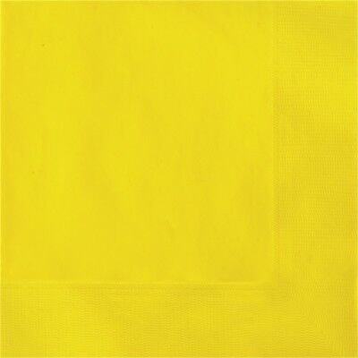 Unique Party Napkins - Yellow - Tableware Birthday Disposable Supplies Event