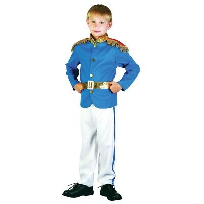 Large Boys Prince Costume - Fancy Dress Charming Royal Outfit Book Week Kids