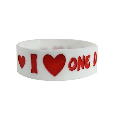 One Direction I Love Wristband - Rubber New