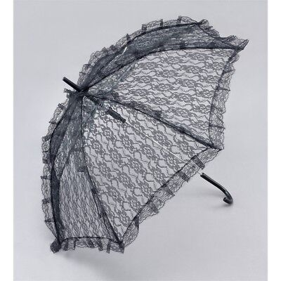 Bristol Novelty Ba912 Parasol Black Lace, Womens, One Size - Lace Fancy