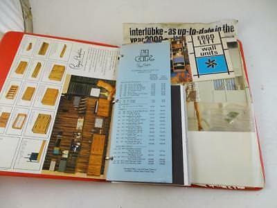 Vintage 1971 Omni Spacemaker Systems Mid Century Wall Unit Cabinet Catalog Book