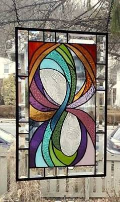 ** IN LIVING COLOR**Stained Glass Window Panel (Signed and Dated)