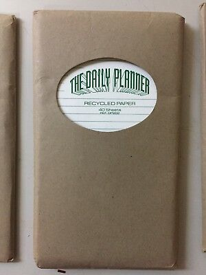 Personal Organizer Recycled White Paper Lined Refil Fits Filofax
