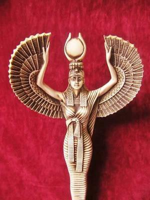 Amazing Handmade Egyptian Museum Art Statue of Ancient Winged Queen ISIS X-LARGE