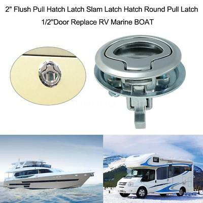 "Boat Marine Flush Mount Hatch Flush Pull Latch 2"" Stainless Steel Practical O4B5"