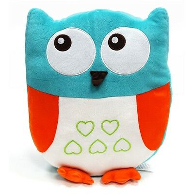 Childrens Cute Owl Shaped Blue Animals Luxury Soft Filled Cushion Kids New -