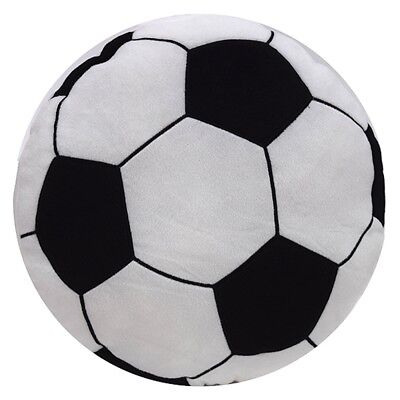 Childrens Football Circle Shaped Sports Luxury Soft Filled Cushion Kids New -