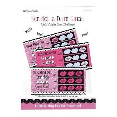 Amscan International Girls Night Out Game Scratch A Dare - Hen Cards Party 12