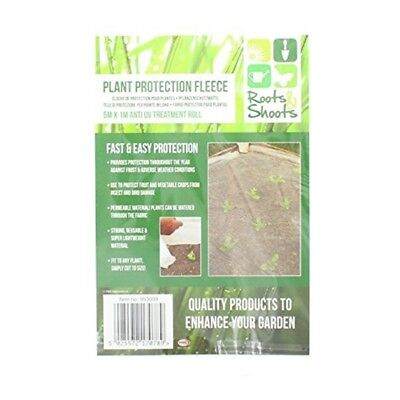 Roots & Shoots Plant Protection Fleece 5m x 1m Anti Uv Treatment Roll - Cover