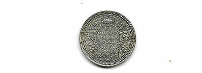 India British 1944  1/4 rupee silver coin