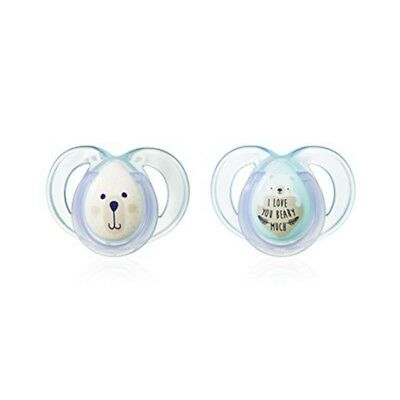 Tommee Tippee Ctn Night Time Soothers - Age 06m618m1836m Girlsboys Bpa Free