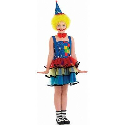 Medium Girls Clown Costume - Child Cute Age Fancy Dress Fun Shack 6 8 Yrs