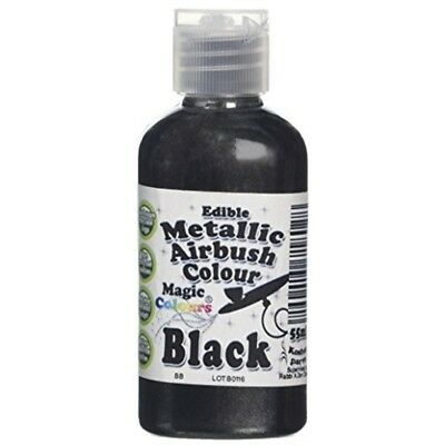 Magic Colours Metallic Airbrush Black - 55ml