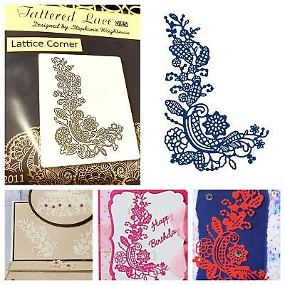 Tattered Lace Die Lattice Corner Wafer Thin Detailed Lacy Lacey Flowers Floral