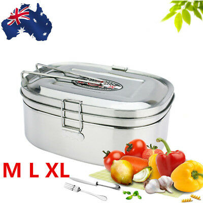 AU Stainless Steel Thermal Insulated Bento Boxes Lunch Box Picnic Food Container