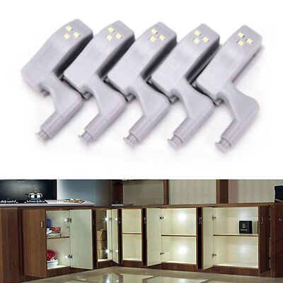 5/10x LED Sensor Light Kitchen Cabinet Cupboard Closet Wardrobe Hinge Lights