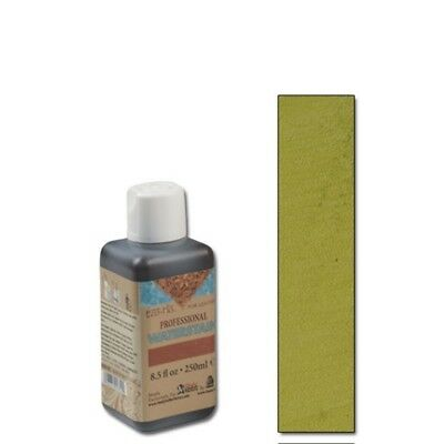 250ml Olive Eco Leather Water Stain - Flo Professional Chartreuse 85