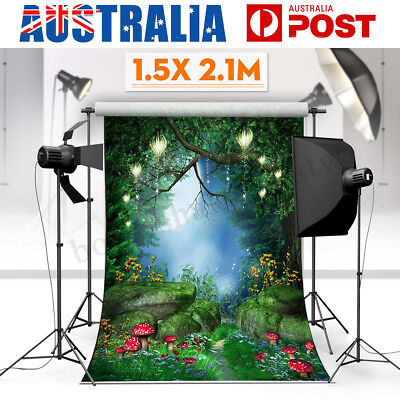 1.5x2.1M Fairy Tale World Green Forest Photo Photography Background Backdrop AU