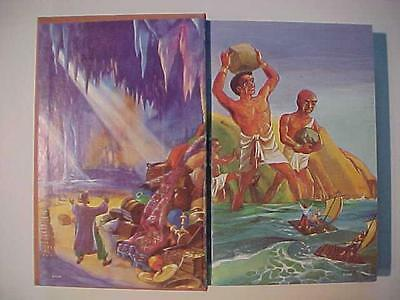 RARE OLD VINTAGE Arabian Nights Illustrated Classic 1961 HARDCOVER BOOK Antique