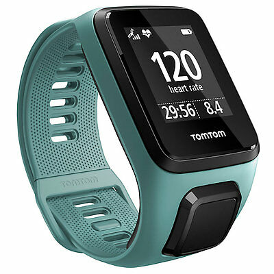 TomTom Spark GPS Cardio & Music Fitness Activity Watch, Aqua, Small (376104)
