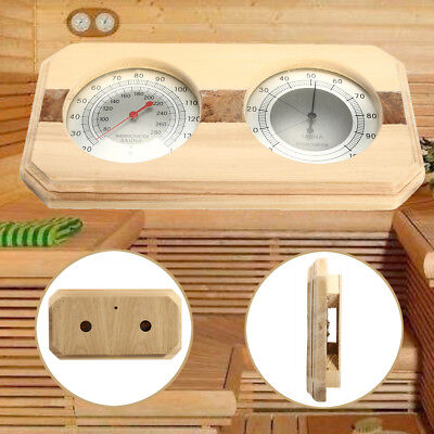 20-140°Wooden Hygrothermograph Sauna Thermometer Hygrometer Sauna Room Accessory