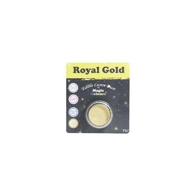 Magic Colours Lustre Dust - Royal Gold - Edible 7ml Luster