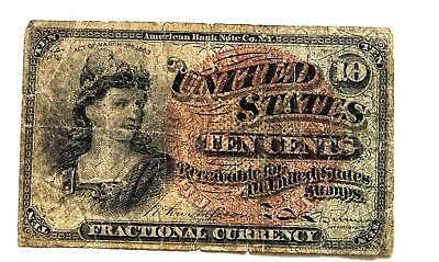 Fractional Currency Ten Cents 4th Issue/VG