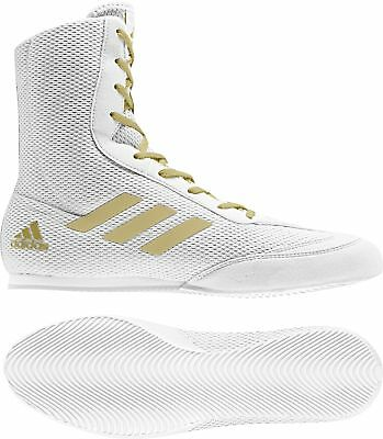 adidas Box Hog Plus Boxing Shoes - White