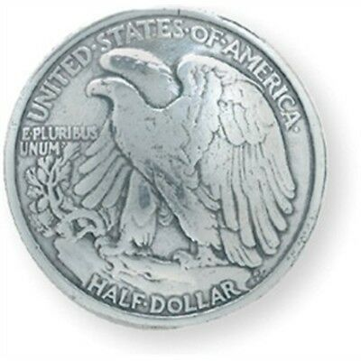 Eagle Half Dollar Concho - Silver Screwback 11875 Tandy Leather Factory