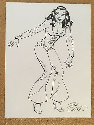 Dave Cockrum Phantom Girl Legion of Superheroes ORIGINAL ART (magazine size)