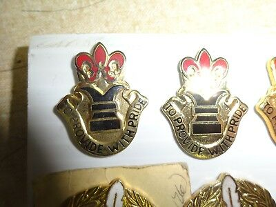 MILITARY INSIGNIA CREST DUI SET OF 2 ARMY RESERVE LEGAL COMMAND VICTORIA PER JUS