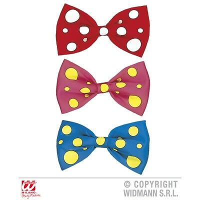 Maxi Bow Tie Accessory For Fancy Dress - Clown Fly Giant Fools Red Dotty 23cm
