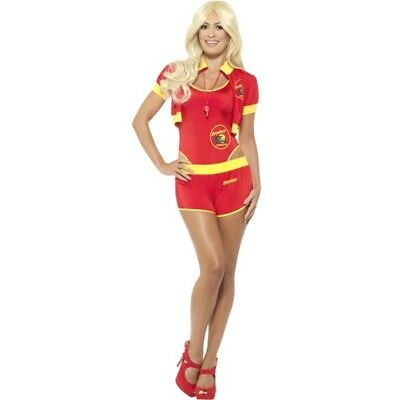 Deluxe Baywatch Lifeguard Costume - Fancy Dress 90s Womens Ladies Adult Beach