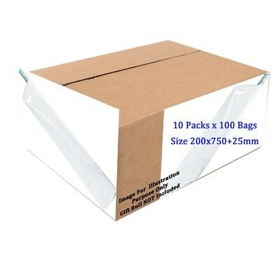 Sapphire Roll Wraps White Carrier Bags Pack - 100 Shop New Official Product