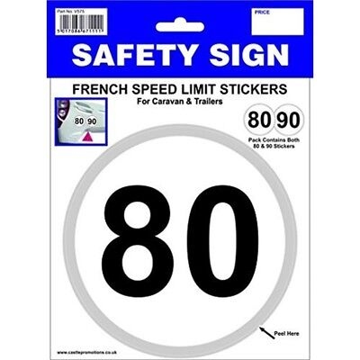 80 And 90 Kmh French Speed Towing Stickers - Limit Castle Promotions Outdoor
