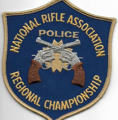 NRA  National RIFLE Association Police Patch Polizei Abzeichen USA Waffen Pistol