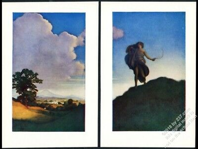 1904 Maxfield Parrish print from Keats' To Autumn vintage 2 print set NM