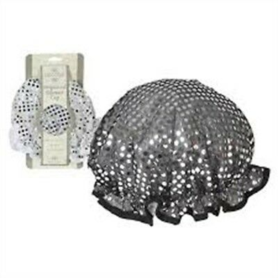 Sequinned Waterproof Shower Cap - Luxury Ladies Wet Hair Head Cover Bath
