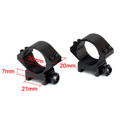 2PCs Tactical Low Profile 30mm Ring 20 Rail Scope Mounts Hunting Accessories