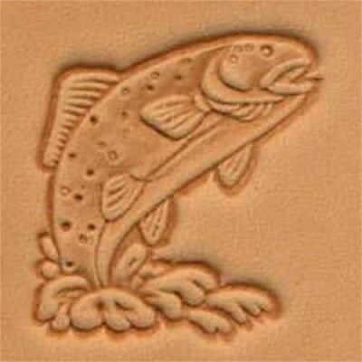 Mini 3d Stamp Trout - Craftool Leather 882100
