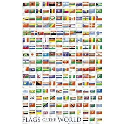 Gb Eye 61 x 91.5cm Flags Of The World 2011 Maxi Poster, Assorted - Poster 915cm