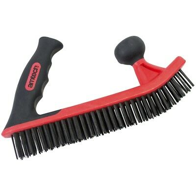 Am-tech S3667 Double Handle Wire Brush - Red (1-piece) - Amtech