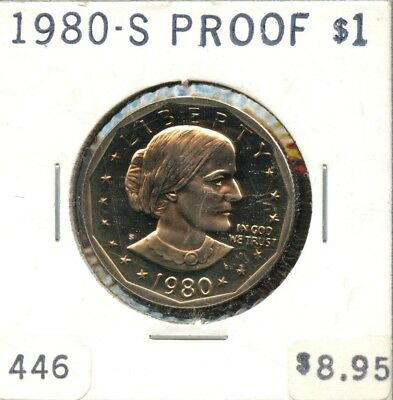 Excellent 1980-S Proof United States Susan B. Anthony One Dollar $1 Coin EP387