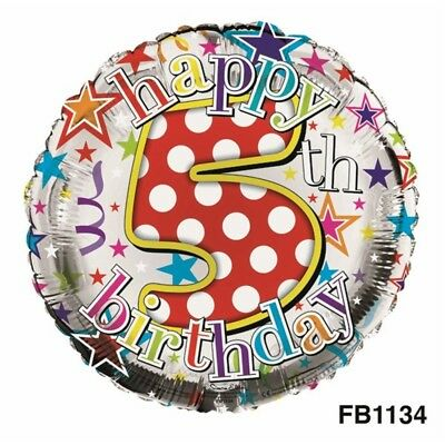 Creative Collection Balloon Foil Happy Birthday 5th Unisex - Age 5 Party