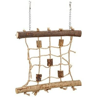Trixie Natural Living Rope Climbing Wall, 27 x 24cm - Bird Toy Wall Wooden